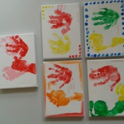 Musikgarten, Fingerfarben, Musik malen, Handabdruck, Fussabdruck, elementare Musikerziehung