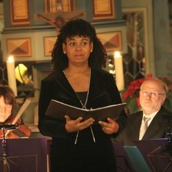 Peony Patricia Brown, Adventskonzert Goddelau, Adventskonzert Peony Brown, Mezzosopran, Gesang, Sängerin